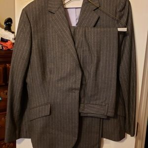 Brooks Brothers Wool Pinstripe Suit Size 14